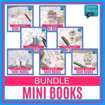 #dec2018slpmusthave No Prep Speech and Language Mini Books Bundle