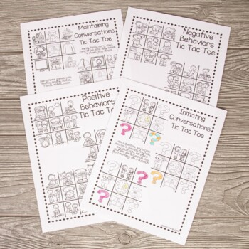 No Prep Articulation & Language Tic Tac Toe Bundle