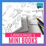 Language One Page Activities - Mini Books