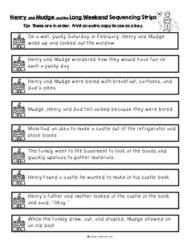 Henry and Mudge and the Long Weekend by Cynthia Rylant, Guided Reading Level J