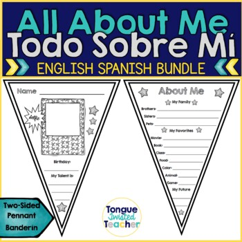 About Me Pennant, Todo Sobre Mi Banderin, Back to School