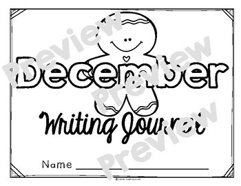 December Monthly Writing Journal