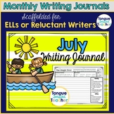 July Monthly Writing Journal