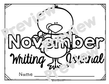 November Monthly Writing Journal