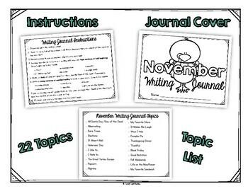 November Monthly Writing Journal