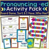 Pronouncing -ed Endings Activity Pack