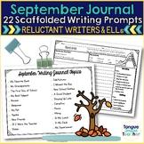 September Monthly Writing Journal