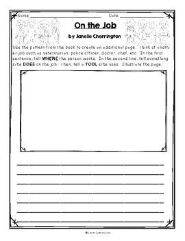 On the Job by Janelle Cherrington, Guided Reading Lesson Plan, Level E