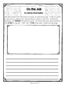 On the Job by Janelle Cherrington, Guided Reading Lesson Plan, Level E