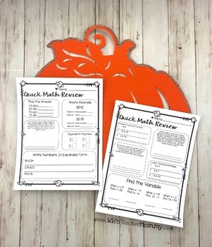 October Sub Plans Math for 5th, 6th Grades. Halloween Activities