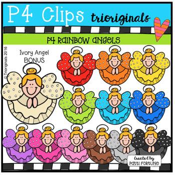 P4 RAINBOW Angels (P4 Clips Trioriginals Digital Clip Art)