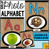 Burlap Alphabet Posters with Photos