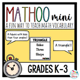 Math Vocabulary Game for Young Learners