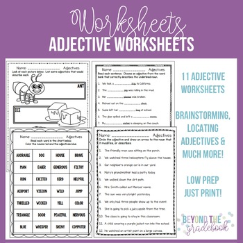 Adjective Worksheets