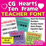 CG Hearts Ten Frame Font -  Make 10 -  Valentine's Day