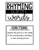 Small Group: Rhyming Activities