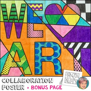We Heart Art Poster - great art lesson for an art sub!