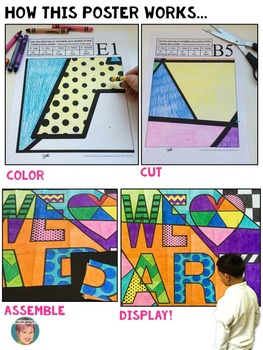 We HEART Art Poster - great bulletin board decoration and art sub plan