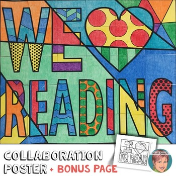 Classroom Decor !  We HEART Reading Collaboration Poster