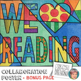 We Love Reading Collaboration Poster | Get Everyone Involved in Classroom Decor!