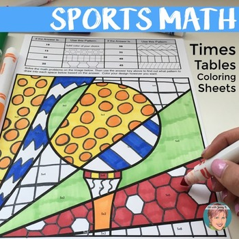Sports Math Times Table Coloring Sheets