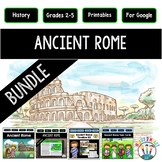 Ancient Rome Activities Bundle with Articles, Timeline, PowerPoint & Task Cards