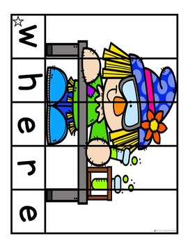 Sight Word Puzzles November | Sight Word Centers