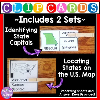 State and Capitals and Locating States