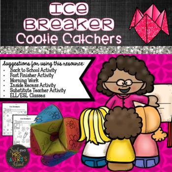 Back to School Ice Breaker Cootie Catchers