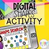 DIGITAL Shape Activity for 2D and 3D Shapes   Shapes Kindergarten Practice