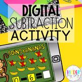 DIGITAL Subtraction Activity | Google Classroom Subtractio