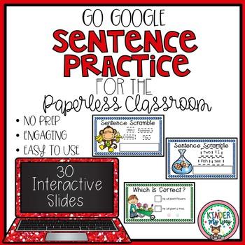 Google Classroom Sentence Practice | Sentence Building