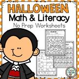 Halloween Math & Literacy Worksheets | Halloween Activitie