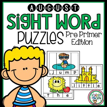 Sight Word Puzzles August Pre Primer