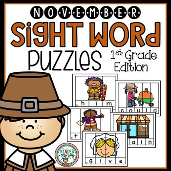 Sight Word Puzzles   Sight Word Practice November