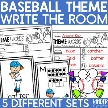 Kindergarten Write the Room - Baseball