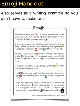 Emoji Agamographs +  Emoji Writing (narrative, descriptive and more)!