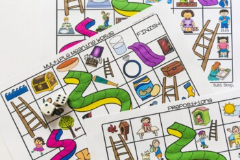 Language Slides and Ladders Board Game