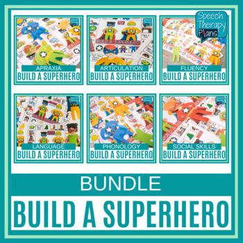 Articulation & Language Build A Superhero Game Bundle