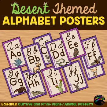 Editable Alphabet Posters—Desert Themed