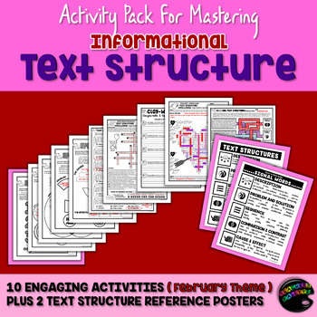 Informational Text Structure (Nonfiction Structure) Practice Packet—February Ed.