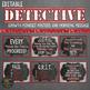 Detective Themed Growth Mindset (Editable)
