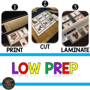 Word Work Cards for Word Wall or Literacy Centers