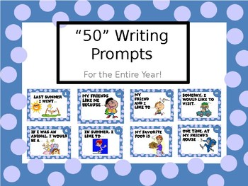 """50"" Writing Prompts for the Entire Year!"