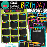 Chalkboard Brights Birthday Posters