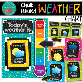 Chalkboard Weather Chart