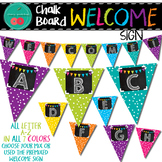 Chalkboard Brights Welcome Banner