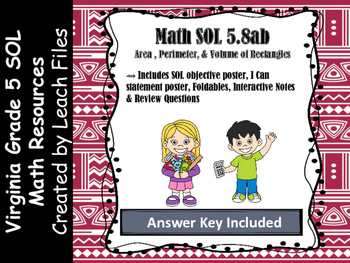 Grade 5 Math VA SOL 5.8ab Rectangles
