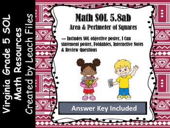 Grade 5 Math VA SOL 5.8ab Squares