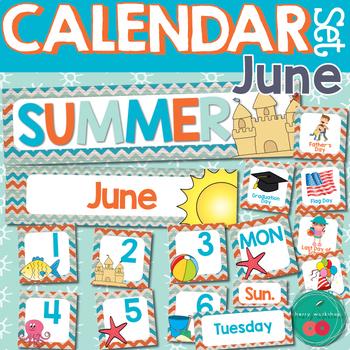 June Calendar Numbers